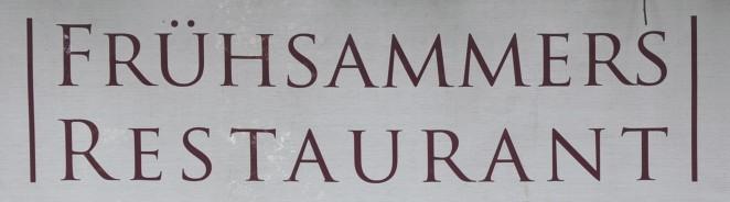 designer fashion d59b8 121a6 Frühsammers Restaurant (*) · B. Steinmann